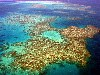 Australia - Australia - Great Barrier Reef (Queensland): the coral reef from the air - photo by Angel Hernandez