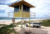 Australia - Gold Coast (Queensland): lifeguards' watchtower - photo by  Picture Tasmania/Steve Lovegrove
