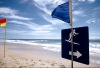 Australia - Gold Coast (Queensland): surf area sign - photo by  Picture Tasmania/Steve Lovegrove