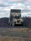 Australia - Balir Athol Mine (Queensland): giant truck - photo by Luca Dal Bo