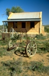 Australia - Silverton (NSW): deserted cottage and wagon -  ghost town - photo by Rod Eime