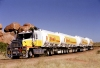 Australia - Devil's Marbles (NT): Shell Mack Quad-trailer road train - photo by R.Eime