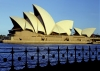 Australia - Sydney (NSW): the Opera House and the railing along Sydney Cove - photo by A.Walkinshaw