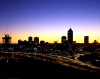 Western Australia - Perth - skyline - dawn - photo by S.Lovegrove