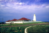 Australia - Kangaroo Is., South Australia: Cape Willoughby Lighthouse - land side - photo by G.Scheer