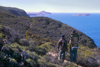 Australia - Heysen Trail near Waitpinga, South Australia: hikers enjoy the view - photo by G.Scheer