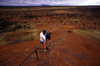 Ayers Rock / Uluru - Northern Territory, Australia: going down - photo by Y.Xu