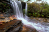 Blue Mountains, New South Wales, Australia: Weeping Rock waterfall, near Leura - photo by G.Scheer