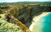 Great Ocean Road, Victoria, Australia: cliffs and small beach - rugged coastline - photo by G.Scheer