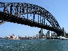 Australia - Sydney (NSW): Harbour Bridge - from the quays - photo by Angel Hernandez