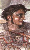 Alexander / Iskander - king of Macedon (fresco from Pompei)
