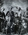 Azeri Guerillas with Turkish officer - 1910