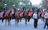 Baku, Azerbaijan: Azeri mounted police - photo N.Mahmudova / Travel-Images.com