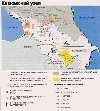 Caucasus: refugees map