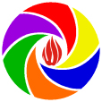 A to Z of Azerbaijan - logo - flame and Travel-Images.com symbol
