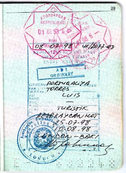 Azerbaijan Passports And Visas Azerb Com