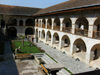 Azerbaijan - Sheki: inner court of the Caravansarai  - Hotel Yukhary - Karavansaray / mehmanxana - photo by N.Mahmudova