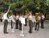 Azerbaijan - Baku: Military band playing al fresco - Republic day celebrations on Fountain square - May 28th - photo by N.Mahmudova