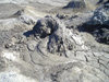 Azerbaijan - Gobustan / Qobustan / Kobustan: mud volcano - the mud dries under the sun (photo by  Fiona MacLachlan)