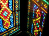 Azerbaijan - Sheki: stained glass work known as 'shebeke' - the Khan's palace (photo by F.MacLachlan)