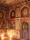 Azerbaijan - Sheki: the Khan's palace - interior decoration - frescoes (photo by A.Kilroy)