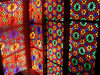 Azerbaijan - Sheki: window - stained glass work known as 'shebeke / shabaka' - the Khan's palace (photo by A.Kilroy)