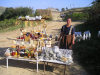 Qala Alti - Davachi rayon, Azerbaijan: lady selling pickles and herbs - photo by F.MacLachlan