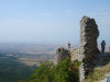 Chirag Gala / Ciraq Qala - Davachi rayon, Azerbaijan: view from the castle ruins - photo by F.MacLachlan