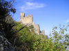 Chirag Gala / Ciraq Qala - Davachi rayon, Azerbaijan: the castle seen from below - built by the Sassanian Empire - photo by F.MacLachlan