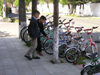 Azerbaijan - Lankaran / Lenkoran: choosing a bike (photo by F.MacLachlan)