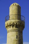 Azerbaijan - Baku: minaret of the Royal Mosque at the Shirvan Shah's palace - UNESCO world heritage - photo by M.Torres