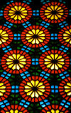 Azerbaijan - Baku: Martyrs mosque - stained glass work known as 'shebeke' - photo by Miguel Torres