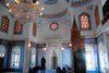 Azerbaijan - Baku: Martyrs mosque - interior - men praying - photo by Miguel Torres