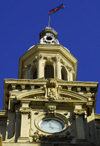 Azerbaijan - Baku: City Hall - Baksoviet Bulding - clock tower - designed by Polish architect Joseph V. Goslavsky - photo by M.Torres