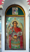 Azerbaijan - Baku: Russian Orthodox Church of Archangel Michael - the Saint's icon - photo by Miguel Torres