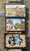 Azerbaijan - Baku: local artists sell their paintings - art - photo by M.Torres