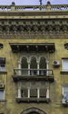 Azerbaijan - Baku: balcony of a residential building - architecture - photo by Miguel Torres