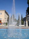 Ganca / Ganja - Azerbaijan: fountain in the city centre - photo by F.MacLachlan