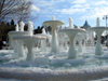 Baku - Azerbaijan: frozen fountain opposite the Puppet Theatre, near the bottom of Sony Shop street - photo by F.MacLachlan