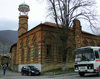 Sheki / Shaki - Azerbaijan: Omar Efendi mosque - red brick building - photo by N.Mahmudova