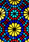 Sheki / Shaki - Azerbaijan: Sheki Khans' palace - Azeri stained glass work - shebeke detail - Khansarai - photo by N.Mahmudova