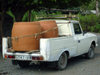 Azerbaijan - Ilisu - Hamam istisu a Georgian pick-up with and heavy load - photo by F.MacLachlan