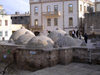 Baku, Azerbaijan: people on the domes of the Hadji Haib baths - Icheri-Shekher - old city - photo by G.Monssen