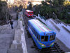 Baku, Azerbaijan: funicular railway - arriving at Martyrs Lane - photo by G.Monssen