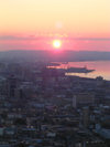 Baku, Azerbaijan: sunset over Baku bay - photo by G.Monssen