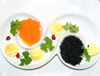 Baku, Azerbaijan: black and red caviar - Osetra / Ossetra sturgeon and Salmon caviar - photo by N.Mahmudova