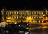 Baku, Azerbaijan: SOCAR building - State Oil Company of Azerbaijan Republic - Azneft square - nocturnal - photo by N.Mahmudova