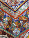 Sheki / Shaki - Azerbaijan: Sheki Khans' palace - ceiling corner with flower decorated muqarnas - Khansarai - photo by N.Mahmudova
