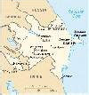 Azerbaijan: sensitive map - click to see info on the cities and towns of Azerbaijan