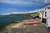 Azores / Açores - Pico - Lajes do Pico: the bay - basking in the sun / a baía - photo by A.Dnieprowsky